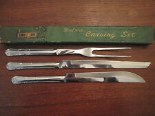 Rare 3pc. CARVING SET: Vintage 1776 stainless: PRESENT TRADING Co: EXCELLENT!