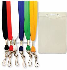 10 NECK LANYARD + 10 BADGE ID HOLDERS ~ Free Shipping!!