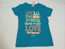 NWT Light Source M  Teal Let All You Do Be Done In Love Christain Shirt