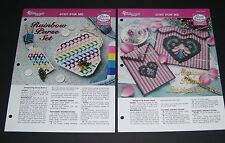 NEEDLECRAFT PLASTIC CANVAS PATTERN LEAFLET LOT #5 JUST FOR ME THEMES YEAR 2000