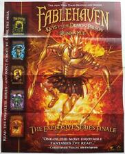 Brandon Mull  FABLEHAVEN: Keys To The Demon Prison  Promotional Poster  28 x 22
