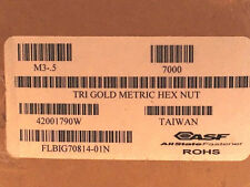 NEW Qty 7000 Hex-Nut M3x0.5 Trivalent Gold 3943TGPFH M3 Hexagon Nuts