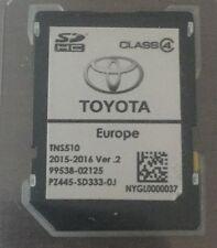 Toyota Navigations Europa SD Card TNS 510 2016 Corolla Verso Auris PZ4455-Sw333