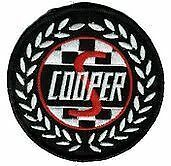 Mni Cooper S Round Wreath large 80mm Embroidered Patch Sew or Iron on.  F020601