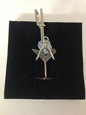 """Masonic R4 Pewter Emblem Kilt Pin Scarf or Brooch 3"""" 7.5 cm"""