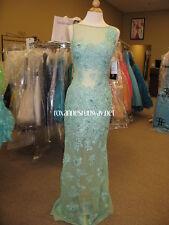 Sherri Hill 11127 Aqua Green Pageant Gala Gown Dress sz 4