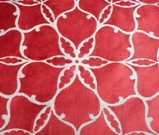Harlequin Curtain/Upholstery Fabric 'Pasha' 3.6 METRES Tobasco - Cut Velvet