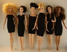 Set of 6 The Perfect Little Black Dress 6 different Styles For Barbie Doll