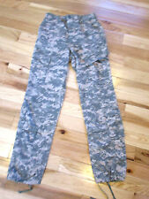 US Military ACU ARMY Digital Camo Fatigue Combat Pants Cargo Small LONG