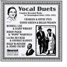 Vocal Duets: Complete Recorded Works (1924-1931) Document Records - DOCD-5526