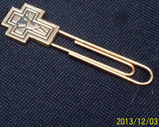 gold filled cross bookmark as pictured