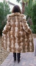 WOMEN'S GENUINE SPOTTED LYNX FULL LENGTH FUR COAT