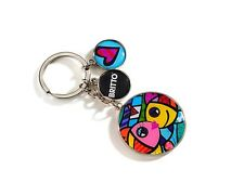 ✿ ROMERO BRITTO ✿ ZINC ALLOY KEYCHAIN: DEEPLY IN LOVE  *** NEW ***