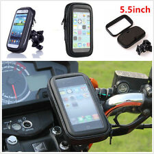 "Motorbike Bike 5.5"" Cell Phone GPS Handlebar Mount Holder With Waterproof Bag"