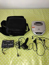 Goodmans DBBS GCD 504RS Personal CD Player CASE LOGIC Audio Converter Headphones