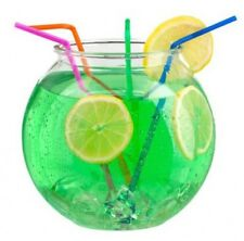 4 X Plastic Cocktail Bowl Fishbowl Games Drinks 6 Inch Summer Hen Garden Party