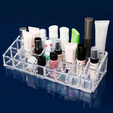Clear Acrylic 24 Lipstick Tray Cosmetic Organizer Stand Display Holder Excellent