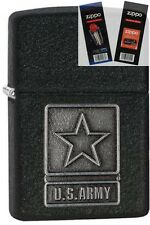 Zippo 28583 u.s. army pewter Lighter with *FLINT & WICK GIFT SET*