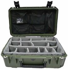 OD GREEN SKB Case With padded dividers & Pelican 1510 / 1519 Lid organizer