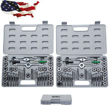 Cases Hand Tools 80 Pieces Tap Hex Die Tool Kit 40pcs SAE and 40pcs Metric