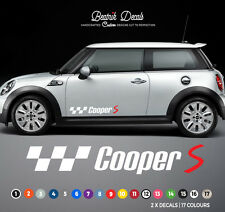 OEM QUALITY MINI DECALS Cooper S Side Stripes Stickers Racing Graphic Decals
