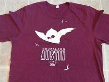 Vtg 2014 DRUPALCON Austin T-SHIRT Mens L Drupal Education Bats Computer Tech App