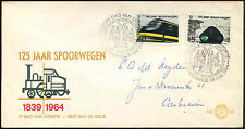 Netherlands 1964 Railways FDC First Day Cover #C27163