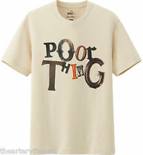 JACK PIERSON x UNIQLO 'POOR THING' SPRZ NY Art Word Sculpture T-Shirt S Nat. NEW