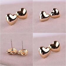 Jewelry Fashion 18k yellow gold filled heart-shaped Ear Studs earrings wh307