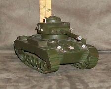 """Metal US Tank Model homemade, approx. 9 x 4  3/4"""", very good with moving parts"""