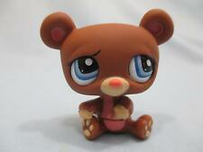 Littlest Pet Shop LPS 1583 Brown Bear with Blue Eyes 100% Authentic