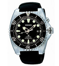 Seiko Prospex SKA371P2 Kinetic Divers Watch Black Dial Rubber Strap Men's