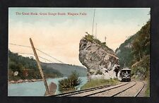 C1910 View of a train on Great Gorge Route, Giant Rock, Niagara Falls, Canada