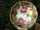 Vintage Nippon Porcelain Hand Painted Roses Plate Early Blue Mark 5 1/4 Inches