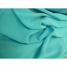1 Meter of Turquoise Crepe Chiffon Fabric