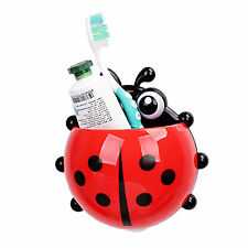 Simple Fashion Ladybird Toothbrush Holder Suction Cup Toothpaste Holder Hot 1pcs