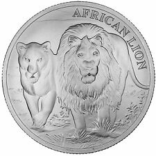 2016 African Lion Series Republic Of Congo 1 oz .999 Silver African Lion BU Coin
