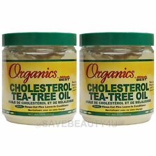 2Pc Africa's Best Organics Cholesterol Tea-Tree Oil Leave-In Conditioner -15oz