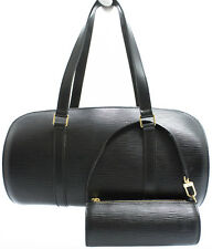 Louis Vuitton EPI Soufflot Bag Tasche in ELEGANT Schwarz Black SUPER Ztd