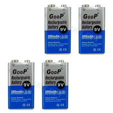 4 x 9V Volt 280mAh NiMH Rechargeable Battery GODP PP3 Block