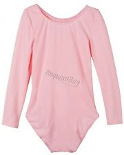 KIDS GIRLS CHILDREN LEOTARDS GYMNASTICS BALLET DANCE LONG SLEEVE SPORTS SUIT