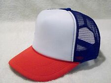NEW RED WHITE BLUE FOAM FRONT SUMMER MESH TRUCKER STYLE HAT OTTO CAP 39-169