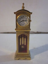 VINTAGE COLLEZIO QUARTZ MINIATURE GRANDFATHER CLOCK WATCH