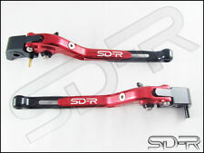 2009 - 2016 Aprilia RSV4 / RSV4 FACTORY CNC Folding Adjustable Levers - Red