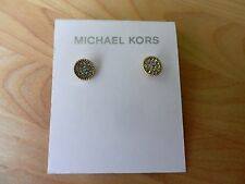 Michael Kors City Barrel  Crystal Disk Earrings MSRP $95