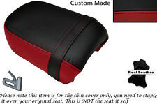 BLACK & DARK RED CUSTOM FITS YAMAHA VIRAGO XV 250 REAR LEATHER SEAT COVER