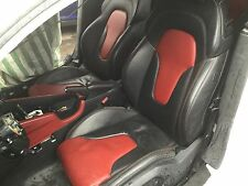 Audi TT TTS TTRS 8J Black and red leather interior, full electric heated,