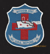 USS REPOSE AH 16 PATCH US NAVY RED CROSS HOSPITAL SHIP PIN UP CORPSMAN GIFT WOW