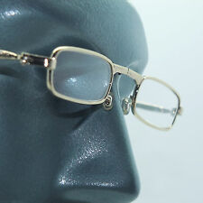 Folding Reading Glasses Petite Small Gold Frame Lightweight Lens Strength +4.00