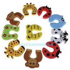 10pcs Baby Child Kids Animal Door Stopper Jammer Safety Finger Protector Guard